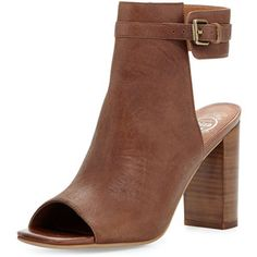 Jeffrey Campbell Canal Leather Peep-Toe Bootie