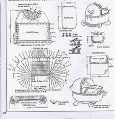 Wonderful Presepio Crochet Decoration step by step Yarn - Crochet Pattern Diy Crochet Basket, Crochet Diy, Crochet Basket Pattern, Crochet Tote, Irish Crochet, Baby Afghan Crochet Patterns, Crochet Stitches, Crochet Christmas Ornaments, Crochet Decoration