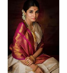 To make it easier for you, we have the top trending beautiful silk saree blouse designs so that you can choose the best for your saree look. Indian Photoshoot, Saree Photoshoot, Indian Look, Indian Art, Saree Poses, Silk Saree Blouse Designs, Indian Silk Sarees, Indian Bridal Fashion, Saree Trends