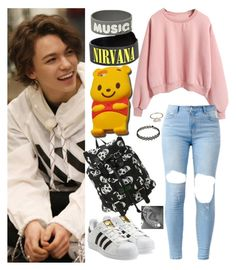 """""""Day w/ Vernon"""" by llavenderdreams77 ❤ liked on Polyvore featuring adidas Originals, Disney, kpop, seventeen, hansol and vernon"""