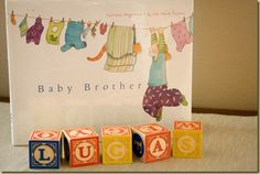 Baby Brother announcement card