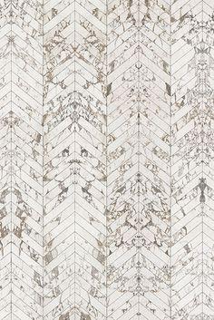 White Marble Wallpaper Herringbone Tiles - x - By Piet Hein Eek - Wallpaper & Decor Herringbone Tile Pattern, Marble Pattern, Tile Wallpaper, Wallpaper Decor, Floor Patterns, Tile Patterns, Wood Facade, 3d Max, Floor Design