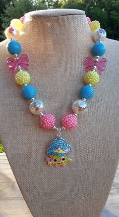 Shopkins Chunky Necklace by ClassyandCuteShop on Etsy