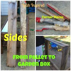 Leah Inspired: From Pallet to Garden Box