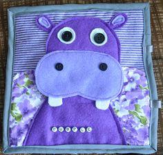 Purple Hippo Quiet Book Page