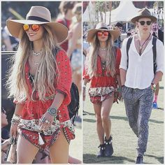 @vanessahudgens get'n her festival on in our Desert Wanderer playsuit still available online (get in quick for 20% off this weekend only!) code: splendour20 || www.spelldesigns.com