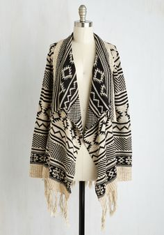 Cuddly Capabilities Cardigan. Snuggly, stylish, and straight-up swell - what isnt this fringed cardi capable of? #cream #modcloth