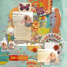 Sun Kissed by Jenn Barrette and Valorie Wibbens Fuss Free: Loverly Labels 4 by Fiddle-Dee-Dee Designs Font is KG Feeling 22