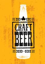 Craft Beer Rough Banner Vector Concept. Drink Local Creative Design Element On Grunge Distressed Background