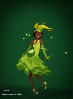 Flapper Historically Accurate Disney Princesses  - Tiana by valeria