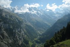 The view of the valley from Mrren Switzerland
