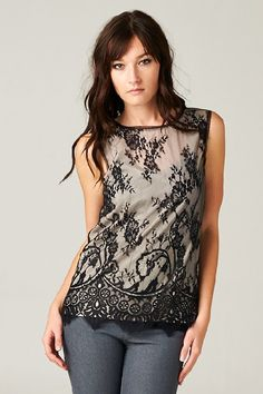 Jackie Top in Vintage Lace