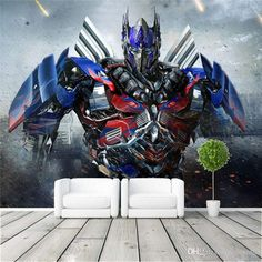 Optimus Prime Photo wallpaper 3D Transformers Photo wallpaper Large Wall Art