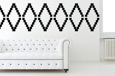 Wall Decal Geometric Chevron Diamond Zig Zag Abstract  Mod Modern Retro Pattern Shapes on Etsy, $65.00