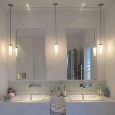 Pendant lights over vanities are a favorite of mine interiordesign awesome bathroom pendant lighting designs aloadofball Images