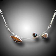 KOROIT OPAL collar de plata esterlina con ópalos Koroit por xaosart