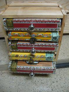 Big 5 drawer Handmade Cigar Box chest of drawers by SchimmelsShop, $79.00