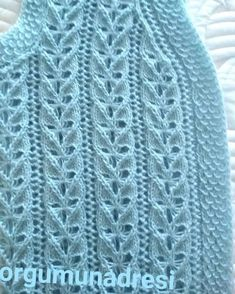 Easy Knitting Patterns, Baby Knitting, Weaving, Embroidery, Model, Instagram, Fashion, Tricot, Ganchillo