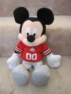 Ohio State Buckeyes OSU 2011 Mickey Mouse in Football Jersey... Wonder if they hav one with a WVU jersey