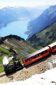 The Brienz-Rothorn, full cog/steam engine train to the top of the Swiss Alps Zug Wallpaper, Train Wallpaper, Wallpaper Gallery, Widescreen Wallpaper, Desktop Wallpapers, Mobile Wallpaper, By Train, Train Tracks, Train Rides
