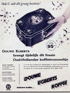 Douwe Egberts koffietrommeltje, wie heeft dit niet... Ik heb het trommeltje ook nog.