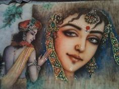 Krishna remembering Radha