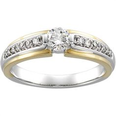 - 1/2 ct tw Diamond Engagement Ring with Round Accents | Matthew Erickson Jewelers