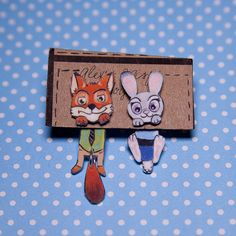 Judy Hopps and Nick Wilde Clinging Faux Gauge by AlexsMisfitToys