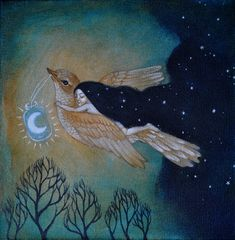 Art community for paintings & drawings only, created by Eren Mckay for those who love art. Bd Art, Art Fantaisiste, Art And Illustration, Arte Horror, Moon Art, Nocturne, Whimsical Art, Pics Art, Stars And Moon