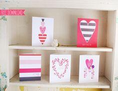 """cinq adorables cartes pour la Saint Valentin : le plus difficile va être de choisir !... une fois de plus, elles peuvent être utilisées à n'importe quel moment de l'année : il n'y a pas qu'un jour où dire """"je t'aime"""" !..."""