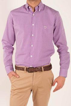 Camisa Cuadro Vichy Malva