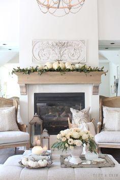 Elegant Home Decor, Elegant Homes, Fall Home Decor, Autumn Home, Diy Home Decor, Fall Fireplace Decor, Cottage Fireplace, Stil Inspiration, George Nelson