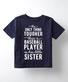 Take a look at this Sporteez Navy 'Little Sister' Tee - Toddler & Kids today!