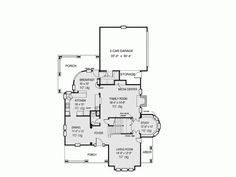 Country House Plan with 2772 Square Feet and 4 Bedrooms(s) from Dream Home Source   House Plan Code DHSW73178
