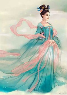 《武媚娘传奇》Art: Fan Bing Bing in the Chinese TV drama 'The Empress of China'. Chinese Painting, Chinese Art, Traditional Art, Traditional Outfits, The Empress Of China, Geisha Art, Beautiful Fantasy Art, Ancient Beauty, China Girl