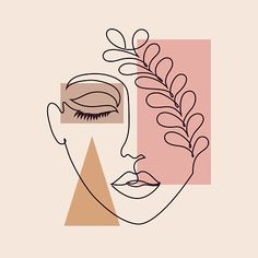 Abstract Face Art, Abstract Drawings, Cool Art Drawings, Abstract Lines, Art Drawings Sketches, Drawing Art, Face Line Drawing, Drawing Style, Woman Drawing