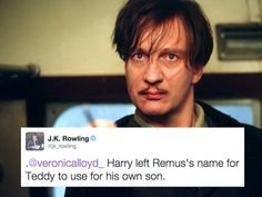 The reason why Harry didn't name either of his sons after the third marauder. | 19 Extremely Important Things JK Rowling Taught Us About Harry Potter In...