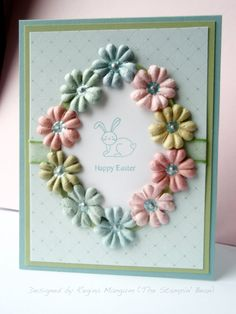 stampin up easter cards - Google Search I have so many flowers could make a lot of this one!