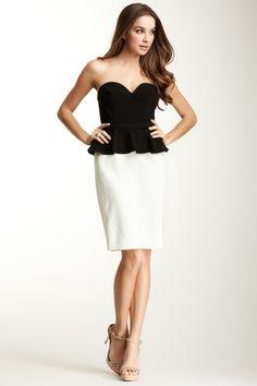 Jill Stuart Sweetheart Peplum Bustier Dress