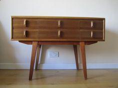 Retro Consul Hall Table Teak Sideboard Drawers Danish Modern 1950's 1960's Sput