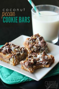 Coconut Pecan Cookie Bars