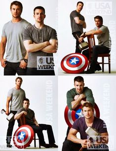 Chris Evans and Chris Hemsworth