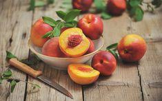 Download wallpapers 4k, peaches, close-up, fresh fruit, summer, fruits Fruits Photos, Food Wallpaper, Fresh Fruit, Close Up, Wallpapers, Apple, Peaches, Desktop, Summer