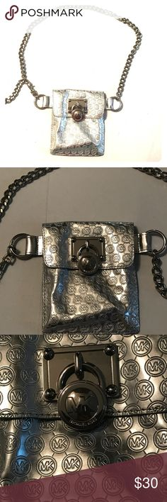 NWOT - Silver Michael Kors Fanny Pack Purchased and never used.  Brand new in EXCELLENT condition.  Definitely a fun fashion statement!! Michael Kors Bags Mini Bags
