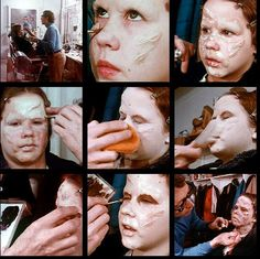 Linda Blair behind the scenes of the Exorcist