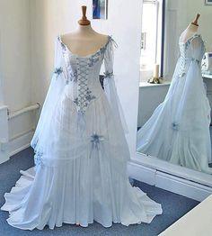 Something borrowed,  Something blue....  Unique dresses like this at https://www.facebook.com/rivendellbridaluk