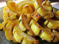 "Crispy ""fries"" made with delicata squash. Yum!"