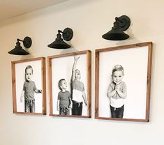 DIYd Engineered prints of our babies on the basement stairwell wall is comple Stairwell Wall, Staircase Wall Decor, Stairwell Decorating, Basement Staircase, Large Photo Prints, Photo Print Sizes, Flur Design, Engineer Prints, Custom Canvas Prints