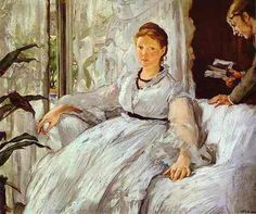 """""""The Reading"""" 1869 - Edouard Manet - Oil on canvas - Musée d'Orsay, París"""