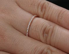 Stackable Simple and Elegant 14k Rose Gold and by Twoperidotbirds